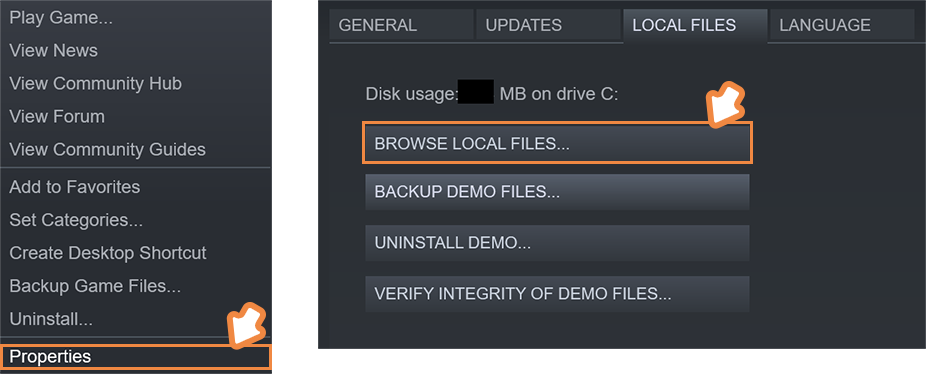 Open The Local Files Tab In Property Window And Click Browse To Find Nekomiko Installation Folder From Steam